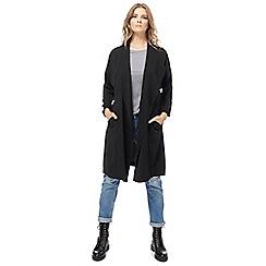 Red Herring - Black waterfall manteau jacket