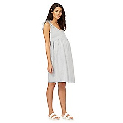 Red Herring Maternity - Ivory striped maternity dress