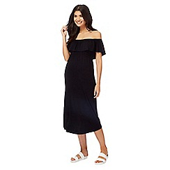 Red Herring Maternity - Black Bardot maternity midi dress