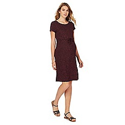 Red Herring Maternity - Dark red knee length maternity tunic dress