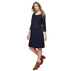 Red Herring Maternity - Navy knee length maternity dress