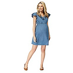 Red Herring Maternity - Light blue denim maternity wrap dress