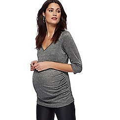 Red Herring Maternity - Silver glitter maternity top
