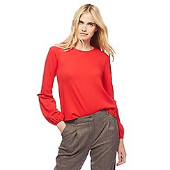 Red Herring - Red balloon sleeves ponte top