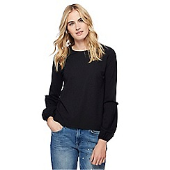 Red Herring - Black balloon sleeves ponte top