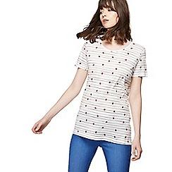 Red Herring - White ladybird print t-shirt