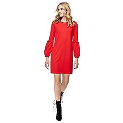 Red Herring - Red long sleeves mini shift dress