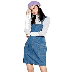 Red Herring - Blue denim pinafore dress