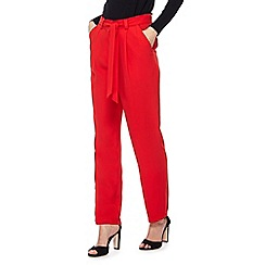 Red Herring - Red relaxed fit trousers