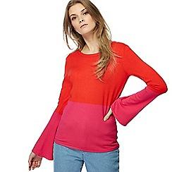 Red Herring - Pink flared sleeves jumper