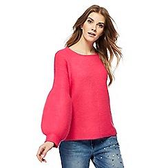 Red Herring - Pink balloon sleeve jumper