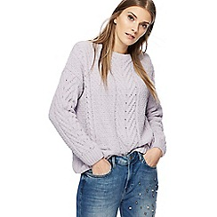 Red Herring - Lilac chunky knit chenille jumper