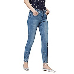 Red Herring - Blue 'Holly' mid rise straight leg ankle grazer jeans
