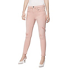 Red Herring - Pink 'Holly' skinny ripped ankle grazer jeans