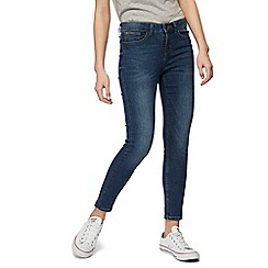 Red Herring - Mid blue 'Holly' skinny ankle grazer jeans