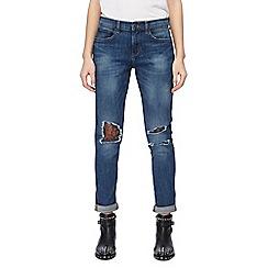Red Herring - Light blue 'Chloe' lace knee girlfriend jeans