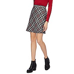 Red Herring - Red and grey checked skirt