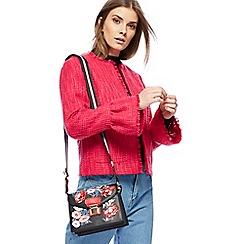 Red Herring - Bright pink textured flute sleeves jacket