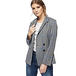 Red Herring - Black and white houndstooth checked double breasted jacket