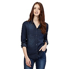 Red Herring - Dark blue denim chambray shirt
