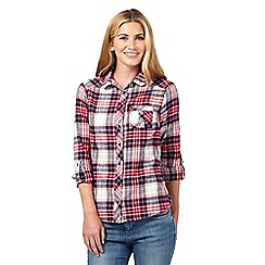 Red Herring - Dark red scarf checked shirt