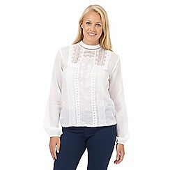 Red Herring - White victoriana sleeve blouse
