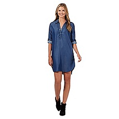 Red Herring - Dark blue denim shirt dress