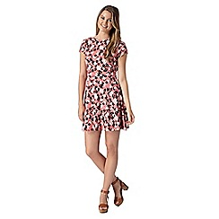 Red Herring - Pink floral print skater dress