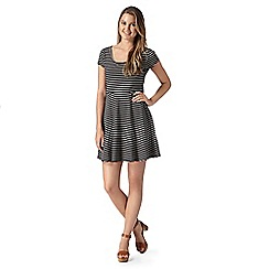 Red Herring - Black striped cutout dress