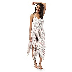 Red Herring - Ivory aztec dress