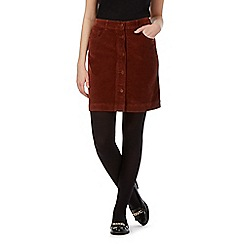 Red Herring - Dark tan cord skirt