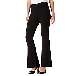 Red Herring - Black jersey flared trousers