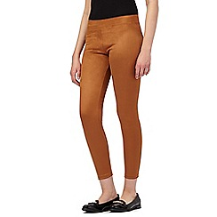 Red Herring - Dark tan suedette leggings