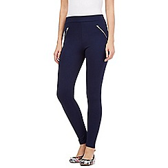 Red Herring - Navy zip leggings