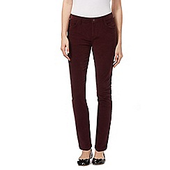 Red Herring - Dark red 'Holly' cord super skinny jeans