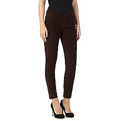 Red Herring - Brown 'Holly' super skinny cords