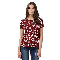 Red Herring - Dark red short sleeved red top