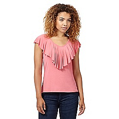 Red Herring - Rose ruffle V neck top