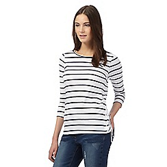Red Herring - White stripe three quarter length top