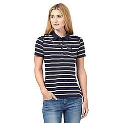 Red Herring - Navy striped polo shirt