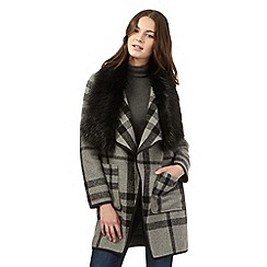 Red Herring - Grey checked drape jacket