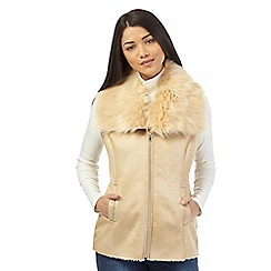 Red Herring - Taupe faux fur gilet