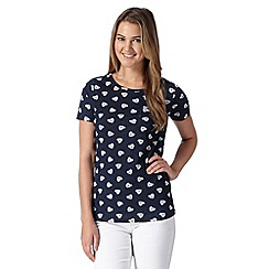 Red Herring - Navy heart print top