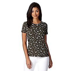 Red Herring - Khaki aztec swallow print t-shirt