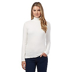 Red Herring - Cream ribbed roll neck jumper