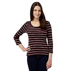 Red Herring - Purple striped crew neck top