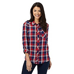 Red Herring - Red check long sleeve shirt