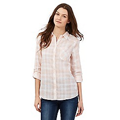 Red Herring - Peach checked print shirt