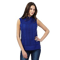 Red Herring - Blue 'Victoriana' shell top