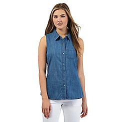 Red Herring - Blue sleeveless denim shirt
